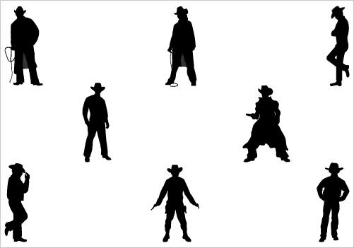 Cowboy vector - photo#19