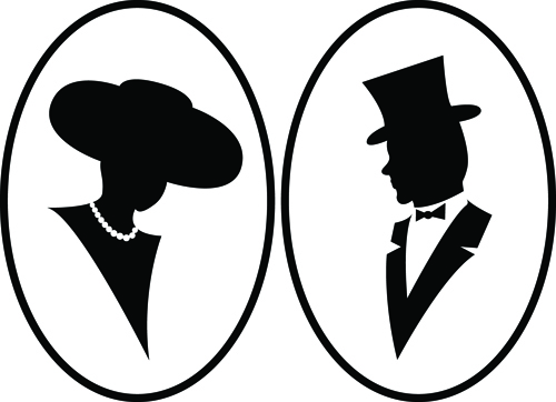 Creative man and woman silhouettes vector set 01 - Vector People ...
