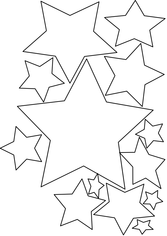 Line Art Star : Star line art cliparts