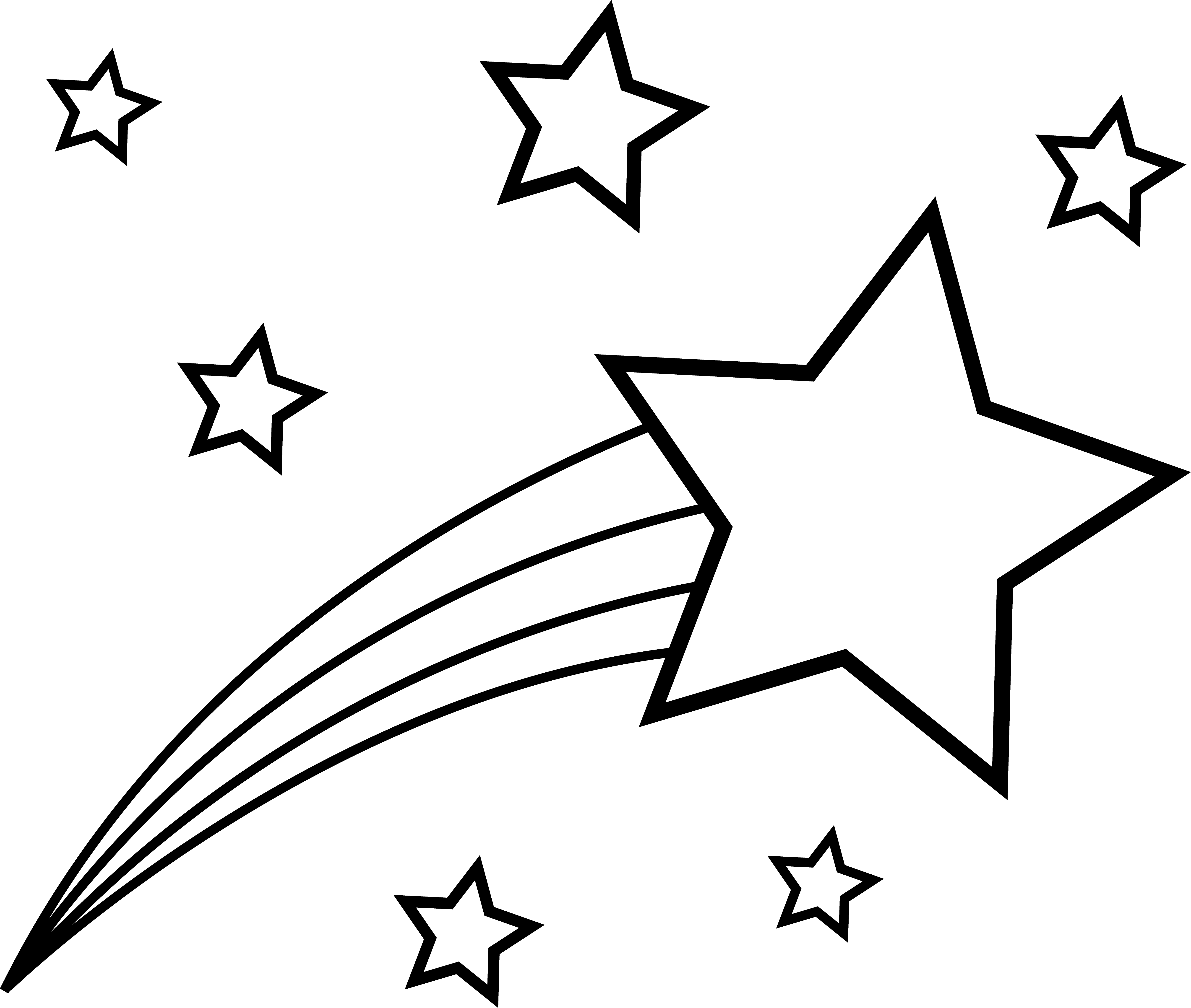 Shooting Star Clip Art Outline | Clipart Panda - Free Clipart Images