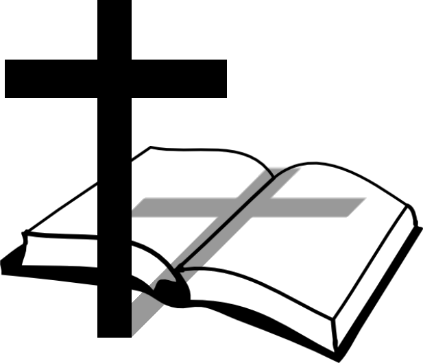Bible and cross clip art cliparts