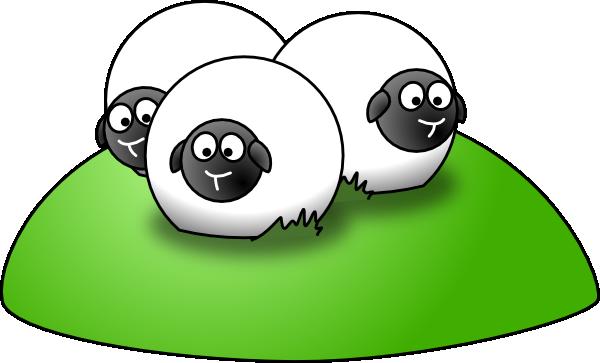 Simple Cartoon Sheep clip art - vector clip art online, royalty ...
