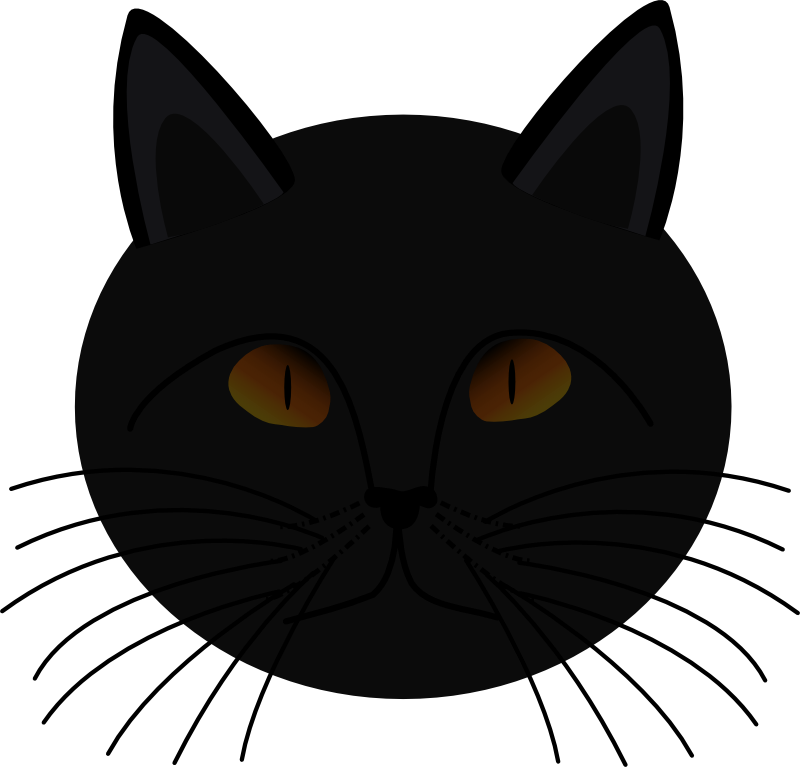 Black Cat Silhouette Clip Art - Cliparts.co