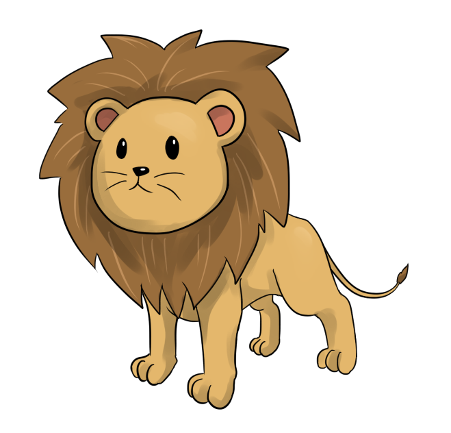 Free Cartoon Lion Clip Art