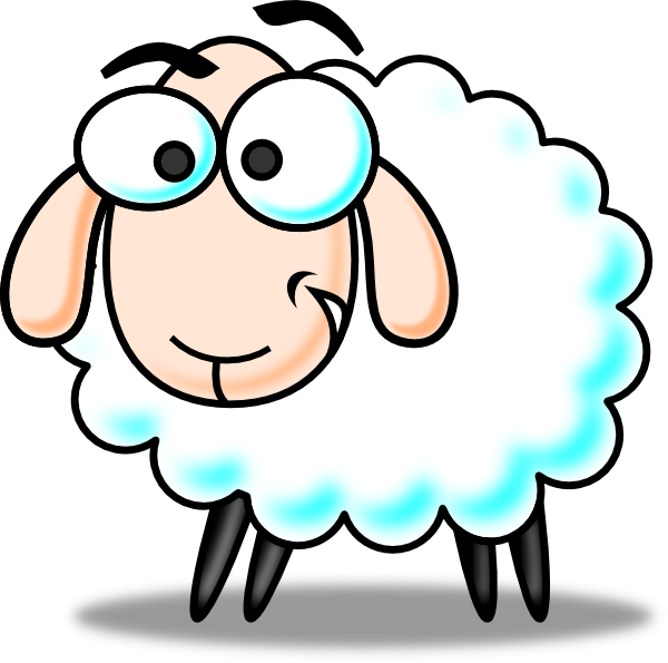 Eid Sheep Colored clip art - vector clip art online, royalty free ...