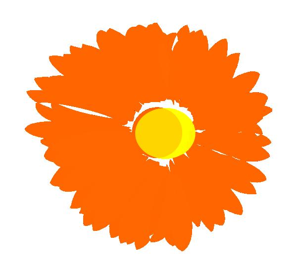 Orange Flower Clip Art - Cliparts.co