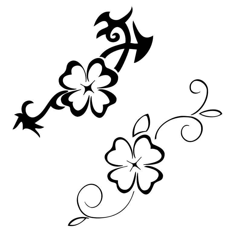 Four Leaf Clover Art - Cliparts.co