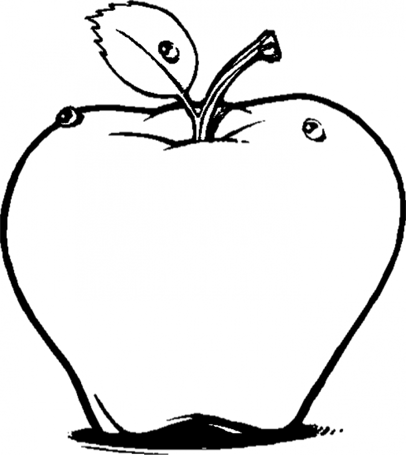 Cartoon Apple Coloring Pages : Cartoon apple pictures cliparts