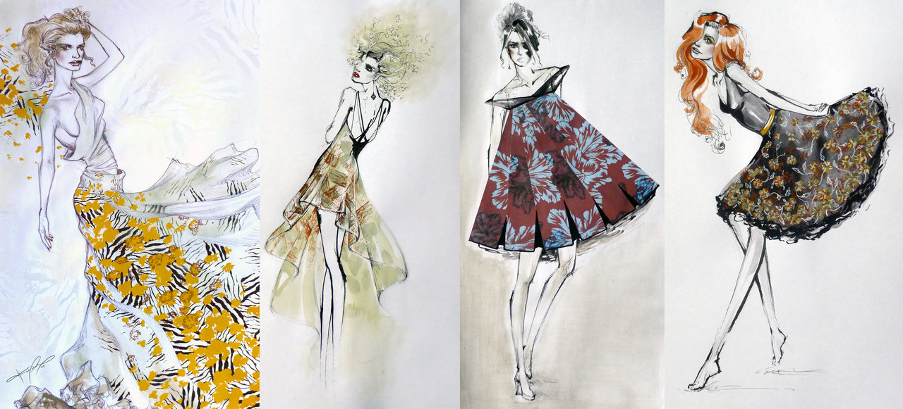 Fashion Illustrations by HesterTatnell on DeviantArt