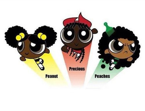 The Afro Puff Girls! | AA ClipArt, Etc | Pinterest - Cliparts.co