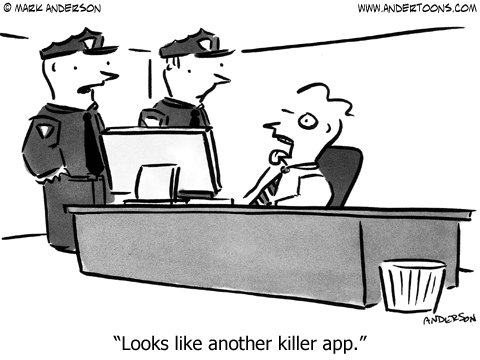 Crime Cartoon #4827 ANDERTOONS CRIME CARTOONS