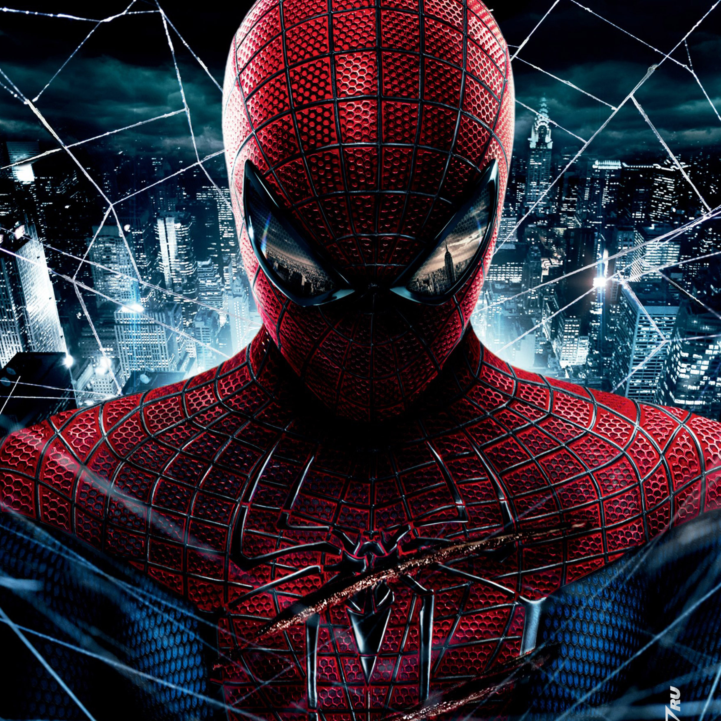 FREEIOS7  Ultimate-spiderman-face - Parallax HD IPhone IPad