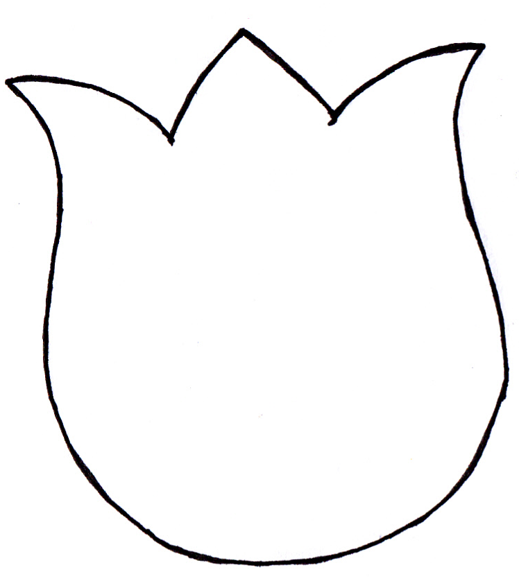 The gallery for --> Simple Tulip Stencil