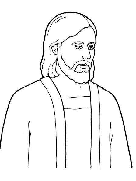 Line Drawing Jesus Face : Jesus drawing cliparts