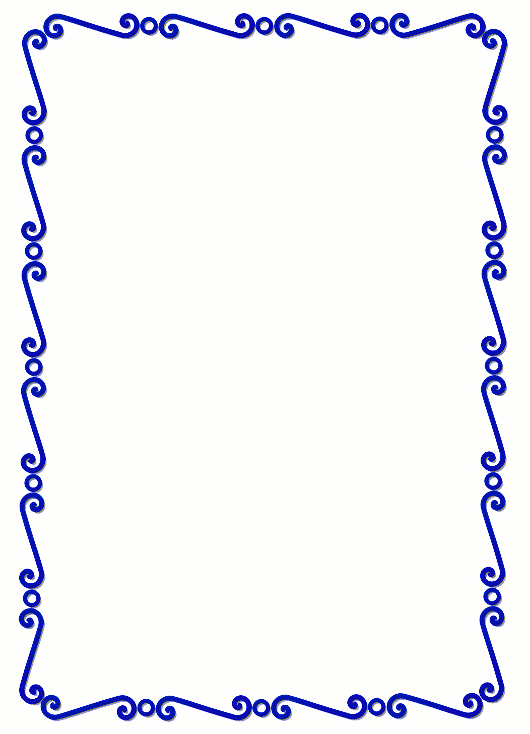 fancy blue border