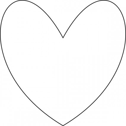 Free clip art heart outline Free vector for free download (about ...