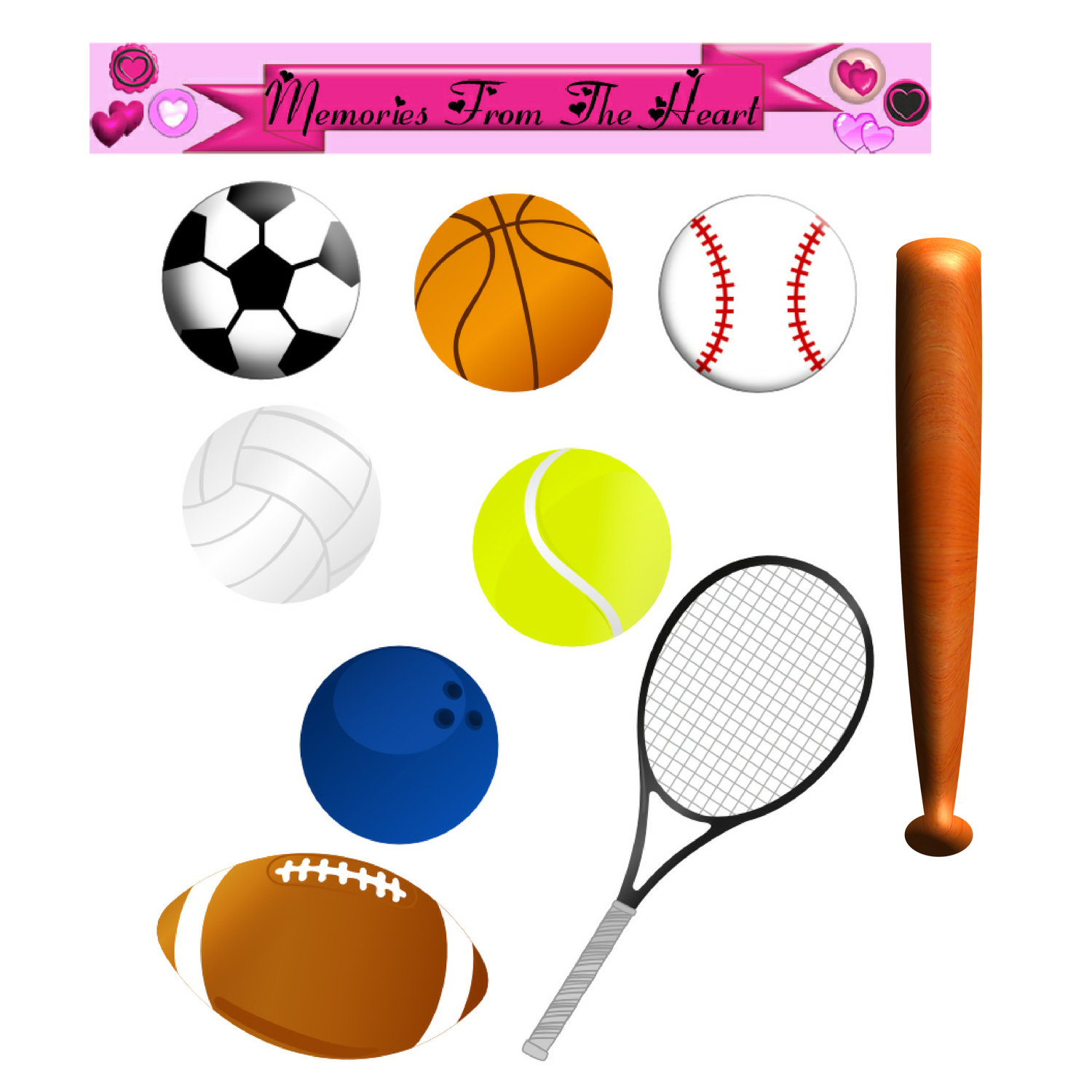 free clipart of sports equipment - photo #7