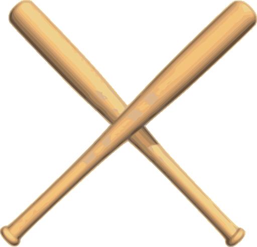 clip art of baseball cliparts co crossed softball bats clipart Crossed Bats SVG
