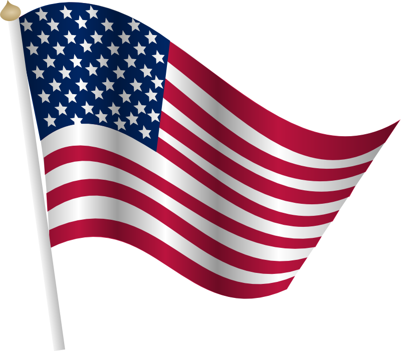 Clipart - American flag