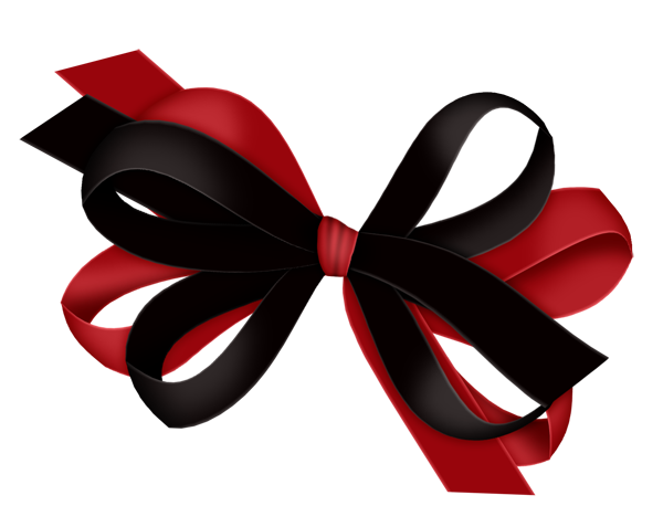 Red and Black Bow Clipart