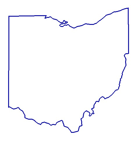 State Outlines Clip Art: oh design