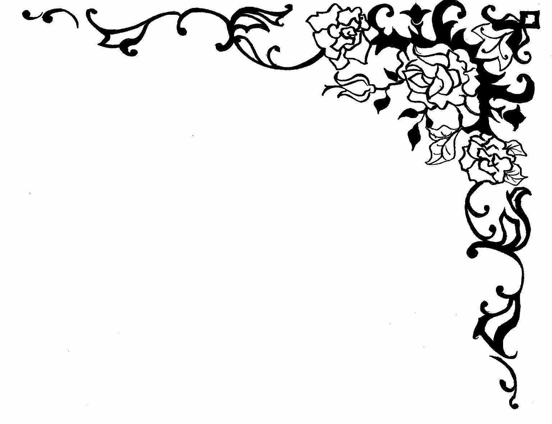 knumathise: Rose Clip Art Black And White Border Images