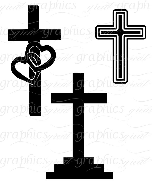 Cross Clip Art Digital Cross Christian Cross Printable Clipart