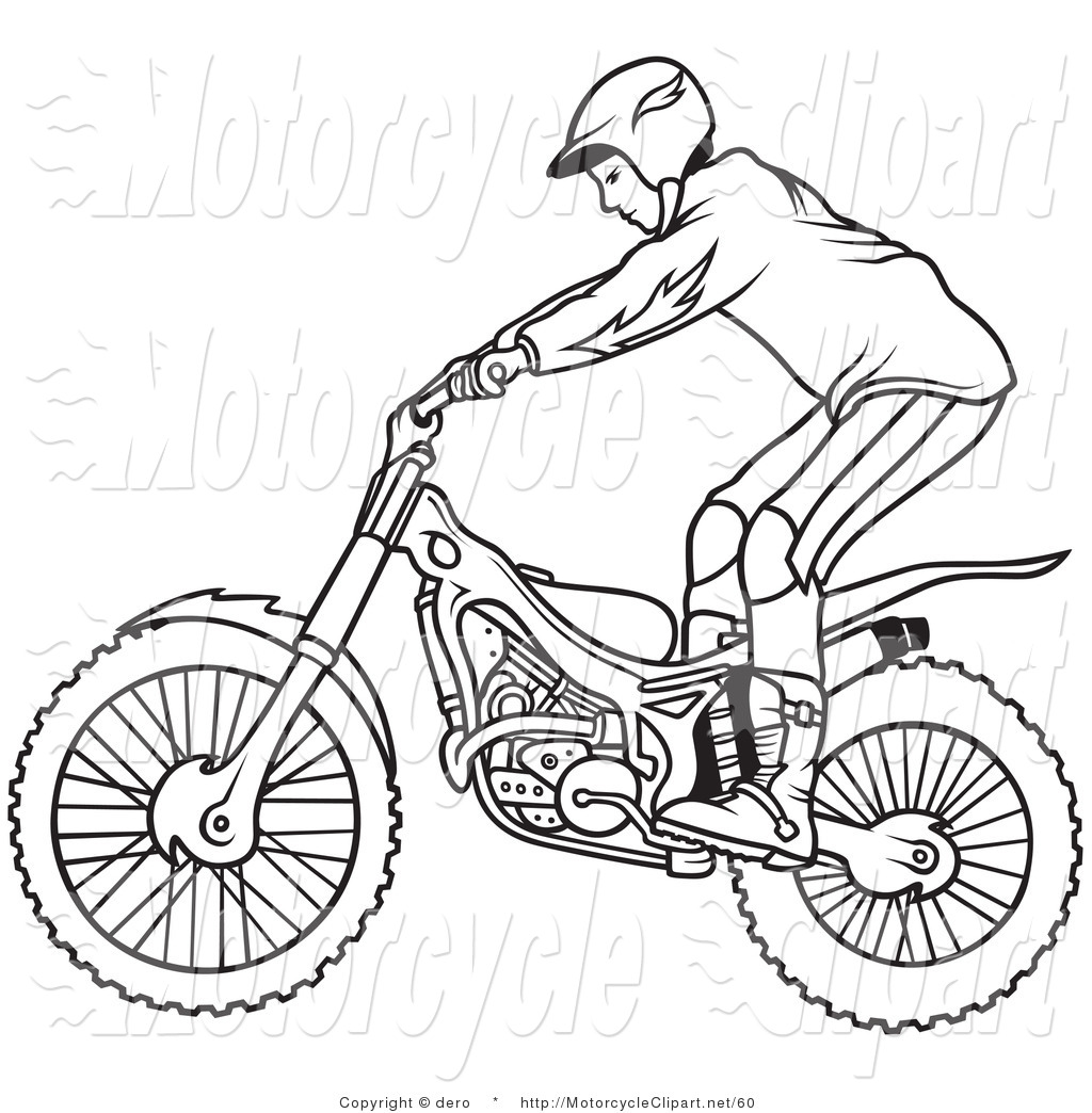 Motorcycle Clipart Black And White Cliparts Co