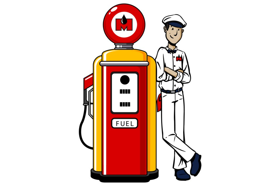 Old Fashioned Gas Pump - Cliparts.co