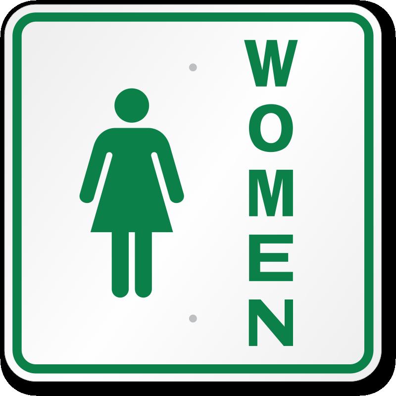 Ladies Restroom Sign. male female ...