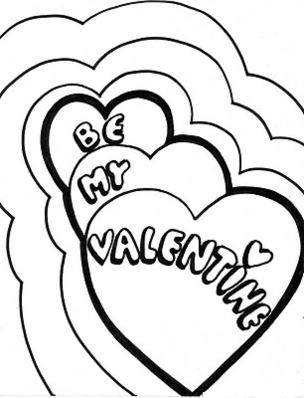Valentine And Love Free Coloring Pages