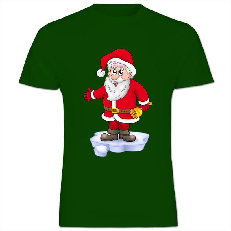 Father christmas ringing xmas bells kids boy girl t shirt ebay