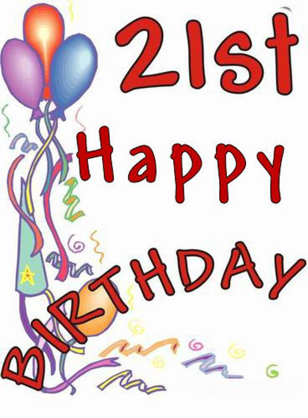 21st Birthday Pictures Clip Art - Cliparts.co