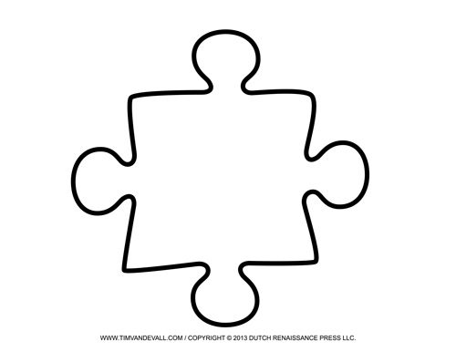 Beautiful image of puzzle piece template