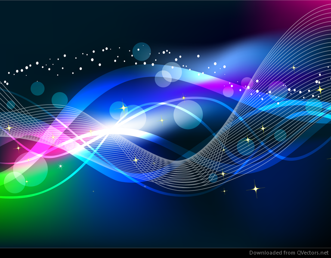Abstract Wave Color Light Background Vector - Free Vector Download ...