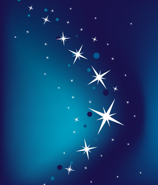 Abstract Blue Vector Background with Stars | 123Freevectors
