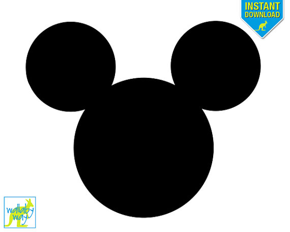 Mickey Mouse Silhouette Printable Iron On by TheWallabyWay on Etsy