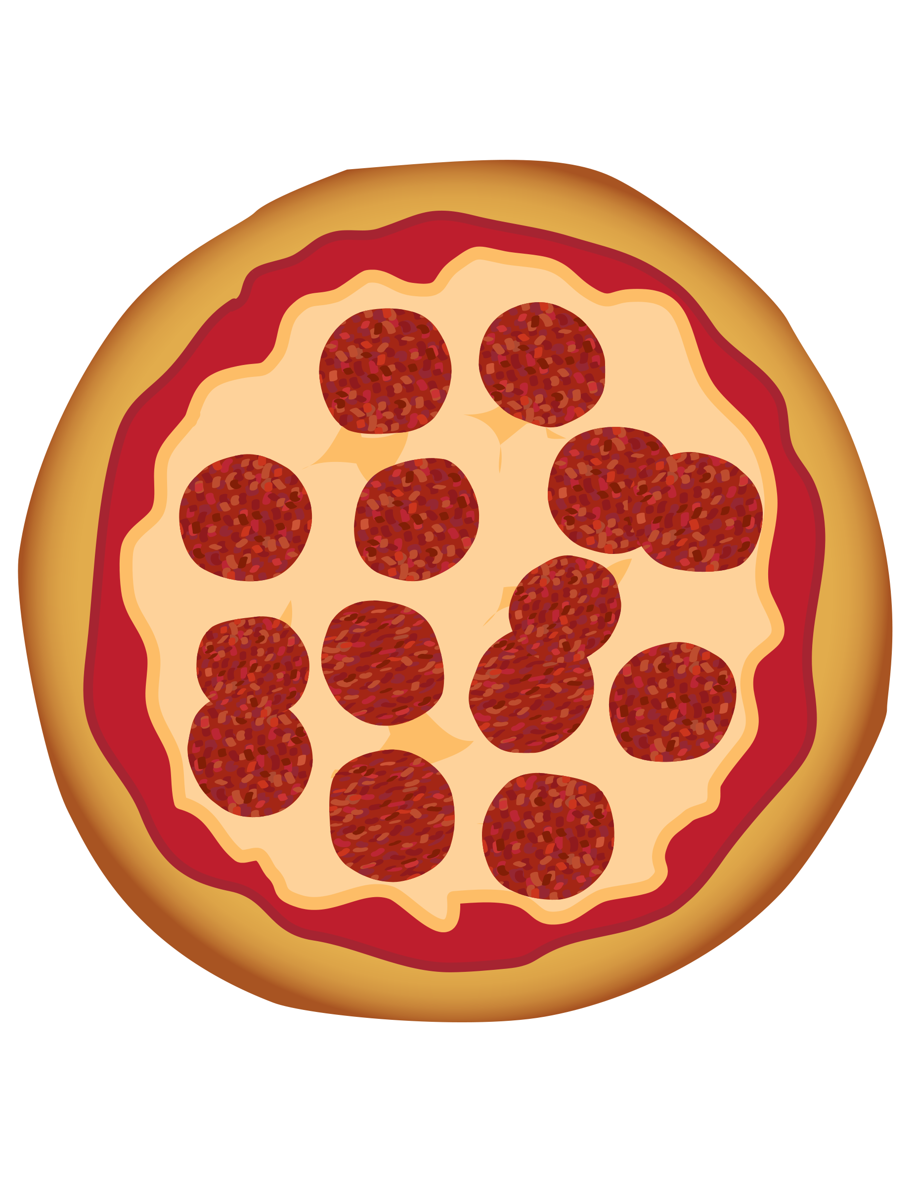 Pictures Of A Pizza - Cliparts.co