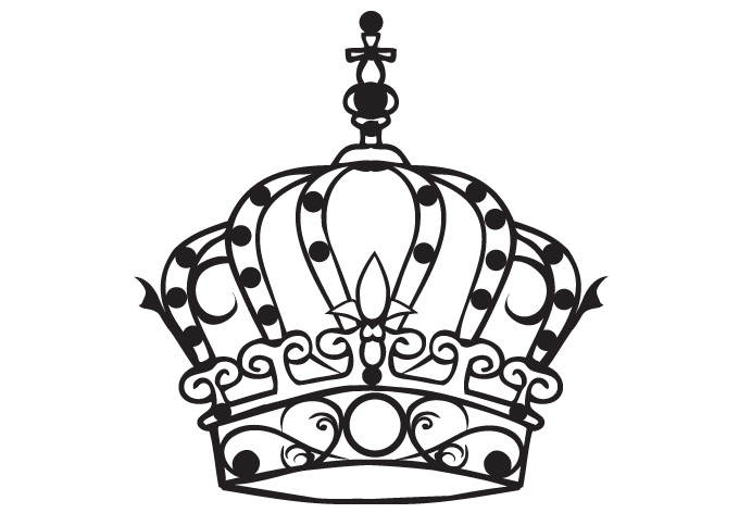 Crown Tattoo Line Drawing : Princess crown drawing clipart best cliparts