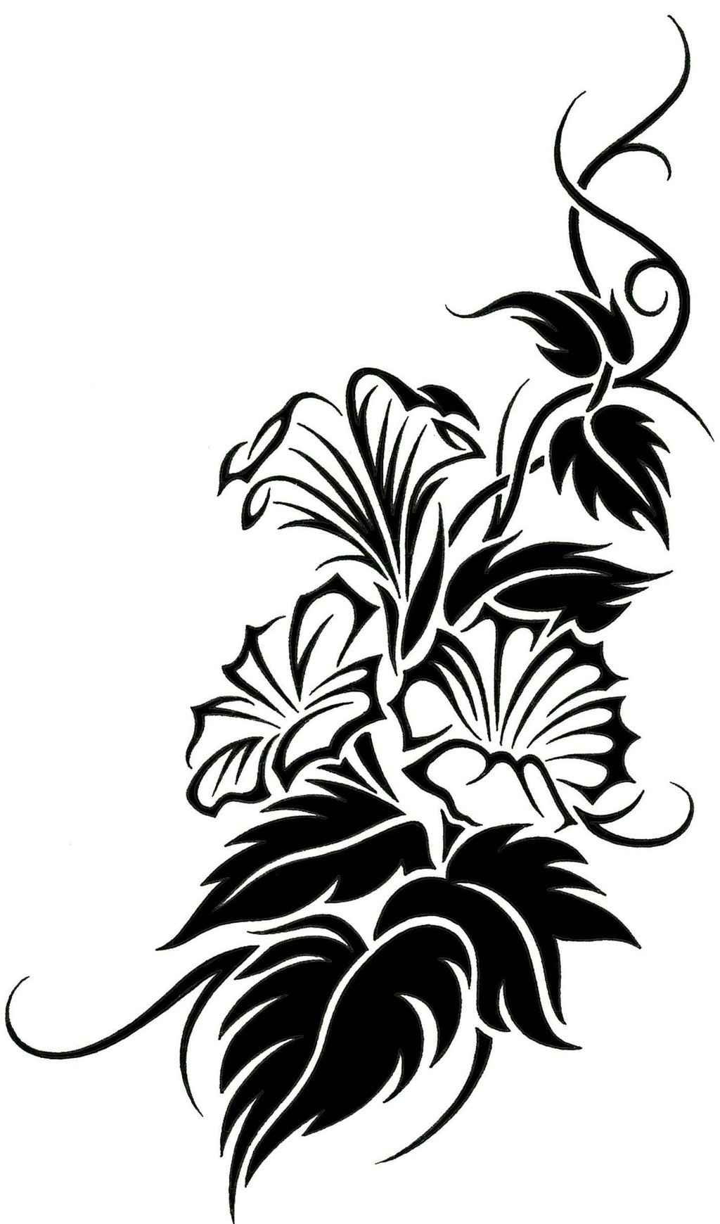 33575637c DeviantART: More Like Floral Tribal Vine Tattoo Design By JSHarts ...