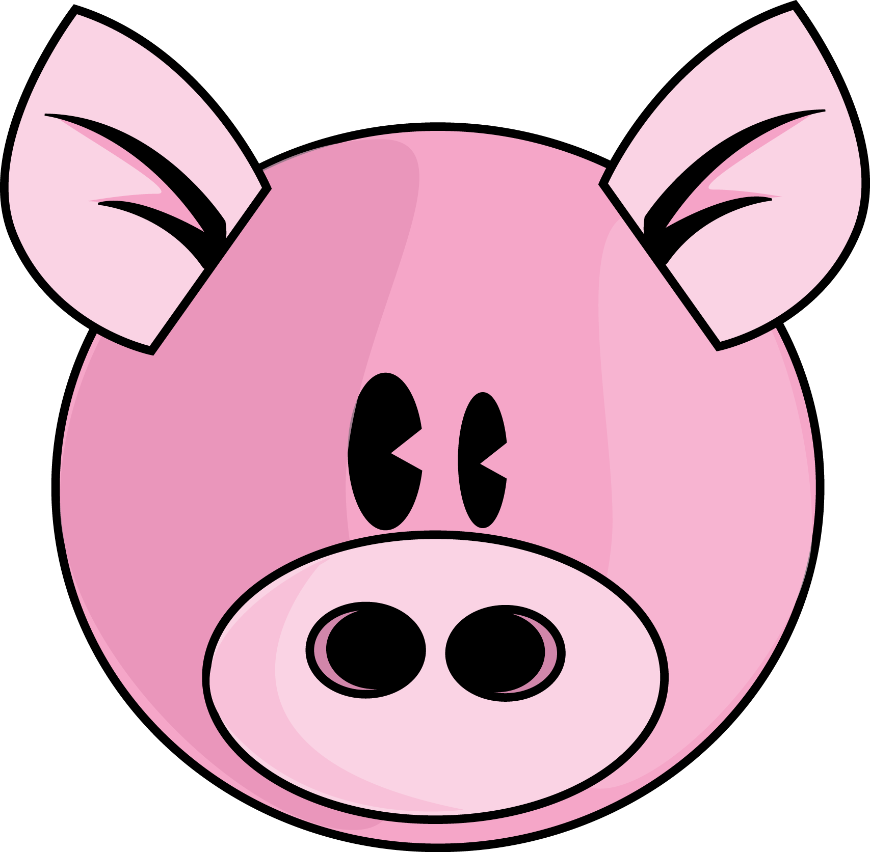 free clip art pink pig - photo #34