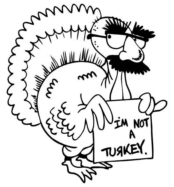 Thanksgiving Cute Coloring Pages Don T Eat Turkeys