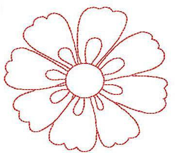 Simple Flower Designs  Cliparts