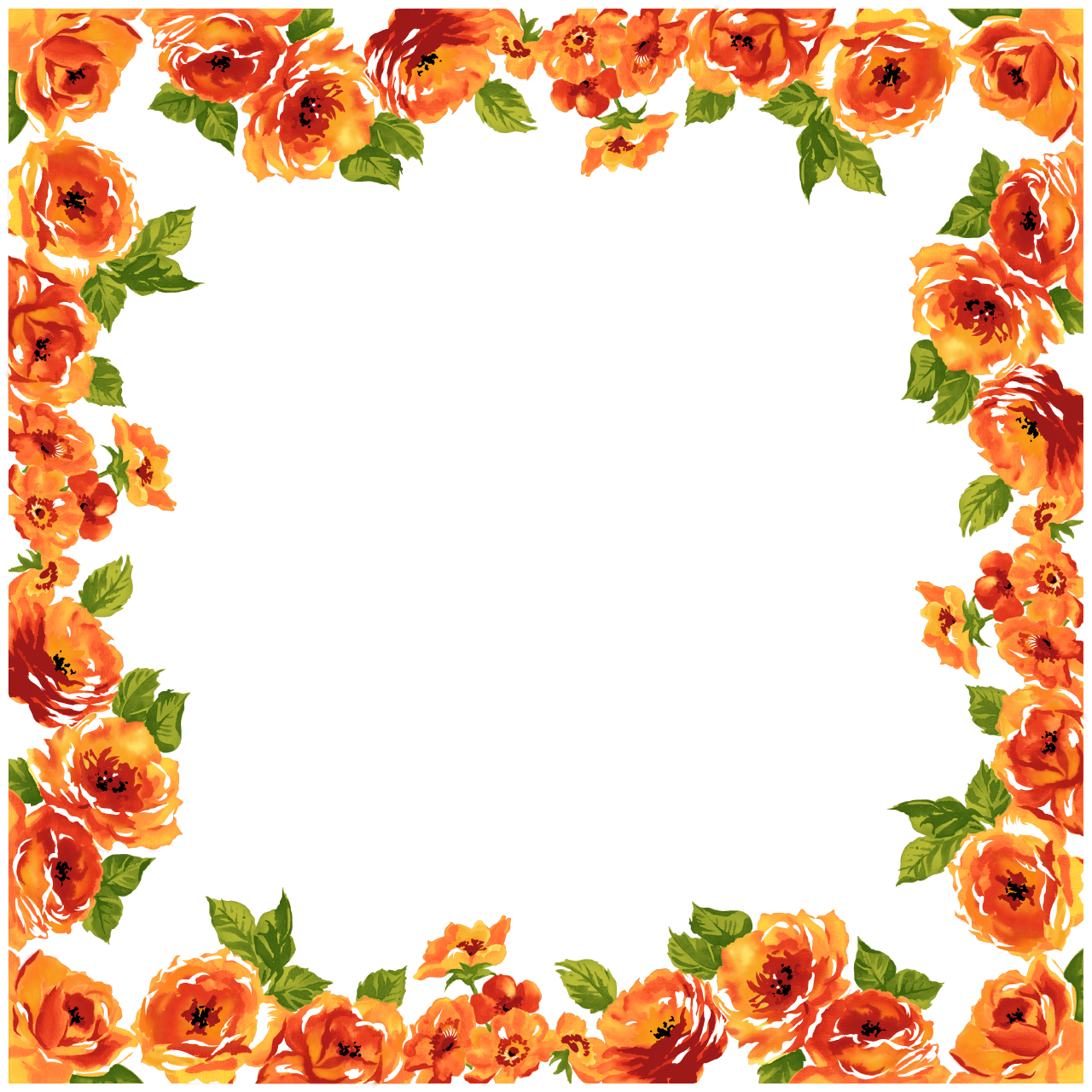 FLOWER BORDER Cliparts