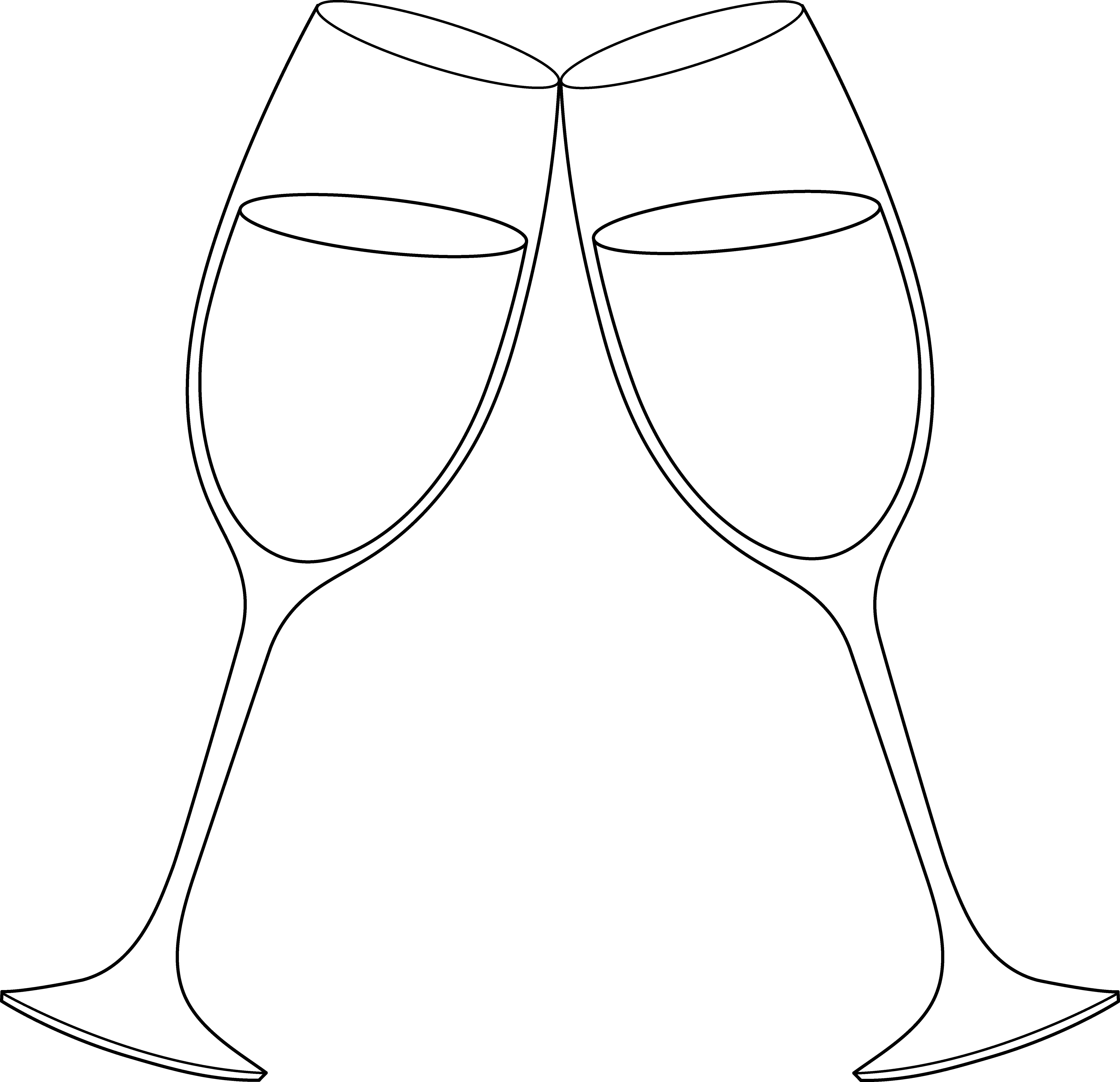 Clip Art Free Champagne Glasses