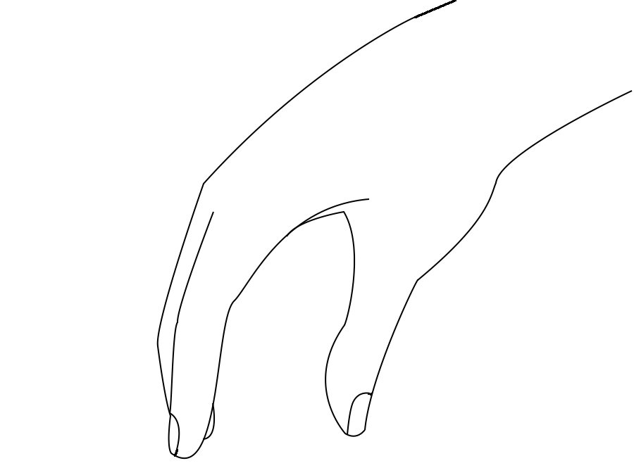 Line Art Hands : Hand line art cliparts