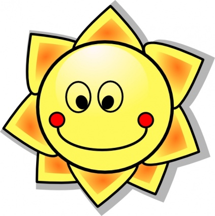 Smiling Cartoon Sun clip art - Download free Other vectors