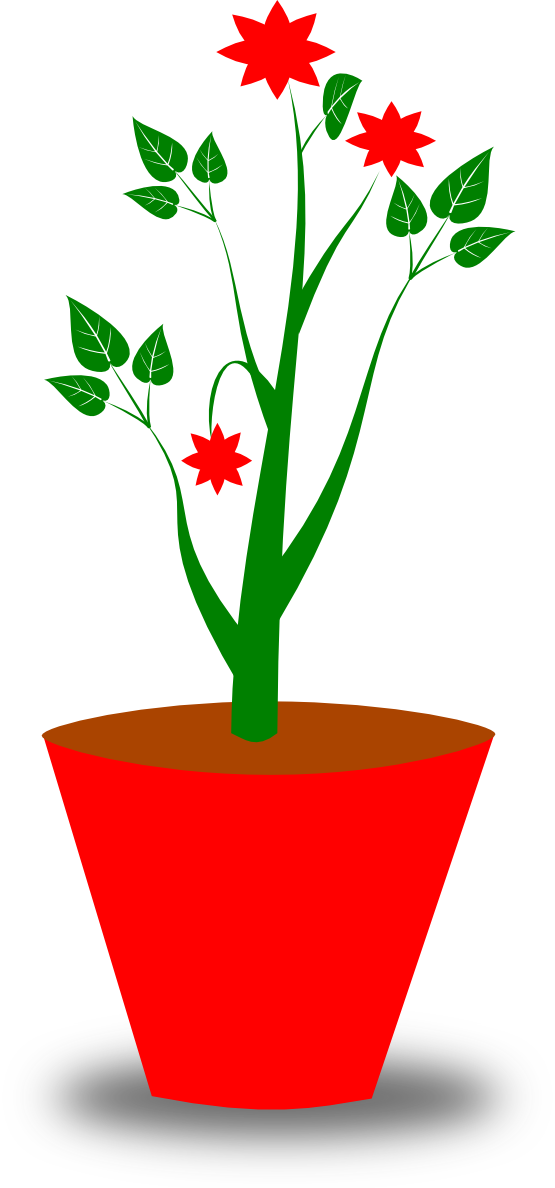 Potted Plant Clipart Black And White | Clipart Panda - Free ...