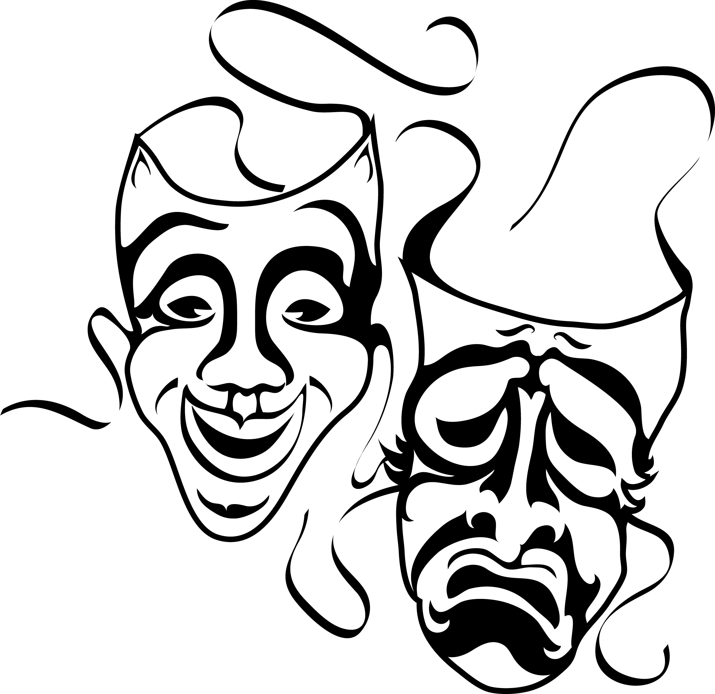Comedy/drama Masks - ClipArt Best