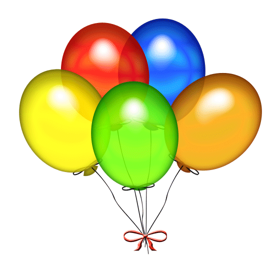 Birthday Balloons Clip Art Free